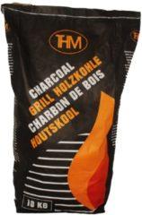 Zwarte THM Houtskool - 10 kg - Onbreekbare PP zak
