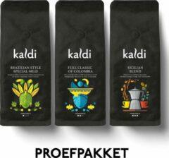 Kaldi Proefpakket Koffiebonen - 3 x 250 gram Cadeaupakket