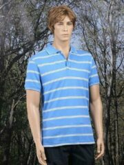 James & Nicholson Poloshirt Milano blauw M
