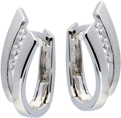 Afbeelding van Elegance 107.6154.00 Oorbellen zilver met zirconia