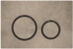 Geberit Sigma21 bedieningplaat met dualflush frontbediening voor toilet/urinoir 24.6x16.4cm zwartchroom / betonlook 115.651.JV.1