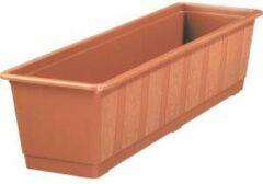 Bruine Geli - Bloembak voor balkon - Standard - 100 cm - Terracotta