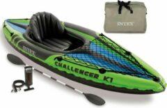 Groene Intex Kajak opblaasbaar Challenger K1 274x76x33 cm 68305NP