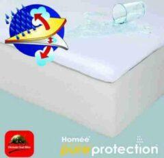 Witte Homéé®pure'protection Homéé ® Topper Molton flanel hoeslaken waterdicht PU 180x220+10cm 100% geruwd katoen 220g. p/m2