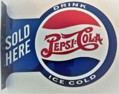 Mooiblik Pepsi Cola Sold Here. Aluminium uithangbord 34 x 45 cm