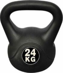Merkloos / Sans marque Kettlebell 24KG Zwart - Kettle Bell Fitness - Gewicht met handvat