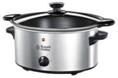 Zilveren Russell Hobbs Cook at Home slowcooker 3,5 liter 22740-56