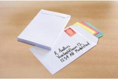 Akte envelop Raadhuis 162x229mm C5 wit plakstrip krimp a 10 stuks .