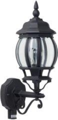 Brilliant Istria 48697/06 Buitenlamp met bewegingsmelder (wand) Energielabel: Afhankelijk van de lamp LED E27 60 W Zwart