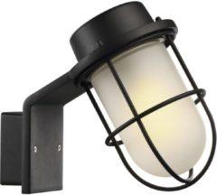 Nordlux Marina Wandlamp Metaal, Glas Zwart, Gezandstraald
