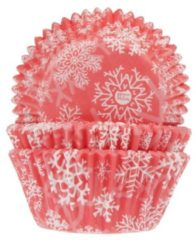 Rode House of Marie Cupcake vormpjes Sneeuwkristal Rood pk/50