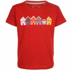 Elkline - Kid's Tiny House VW - T-shirt maat 104/110, rood