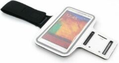 Hardloop Sport Armband voor Samsung Galaxy Note 3, Note 2 wit