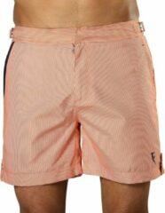 Sanwin Beachwear Korte Broek en Zwembroek Heren Sanwin - Oranje Tampa Stripes - Maat 38 - XL