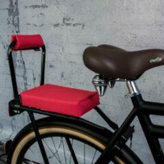 Roze Ohmiomine Complete Set : bagagedrager-kussen en rug-rolkussentje incl. voetsteuntjes en rugleuning