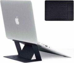 Opline Onzichtbare lichtgewicht laptop standaard Draagbaar, zelfklevende laptopstandaard Opvouwbaar, compatibel met MacBook, Air, Pro, tablets en laptops tot 15,6 inch (zwart)