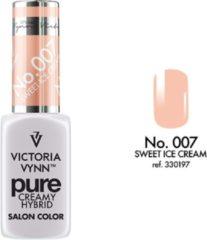 Roze Gellak Victoria Vynn™ Gel Nagellak - Gel Polish - Pure Creamy Hybrid - 8 ml - Sweet Ice Cream - 007 - Nude Pink