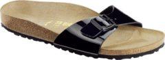 Birkenstock Madrid Lack - Slippers - Dames - Zwart met zwarte zool - Maat 42