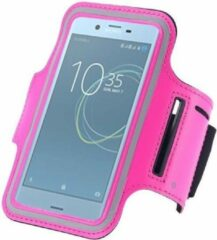Pearlycase Sportband hoes hardloop sport armband Sony Xperia XZ Premium - Roze