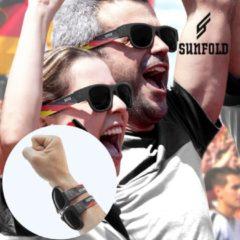 Zwarte Sunfold - Sunfold World Cup Duitsland Oprolbare Zonnebril - Unisex