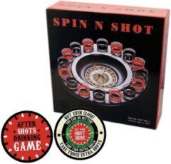 Merkloos / Sans marque Drankspel/drinkspel shot roulette feestartikelen met after shots bierviltjes 10x