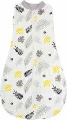 Gele BonBini's BonBini´s baby slaapzak Veren - Baby wiegdeken babydeken - 65 x 34 cm - Grey Yellow