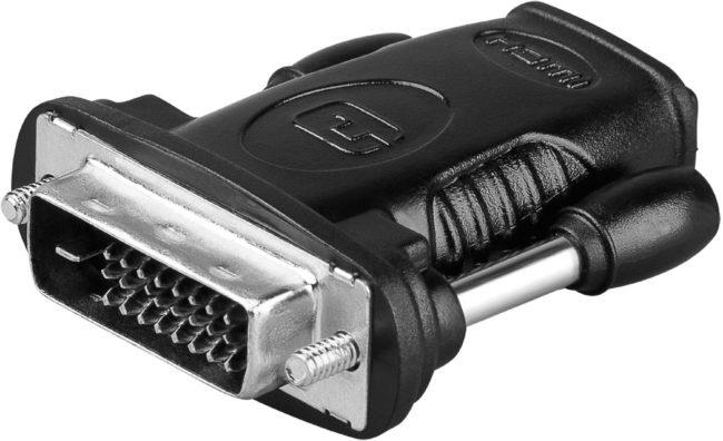 Afbeelding van Zwarte Goobay Wentronic A 333 (HDMI 19pin F/DVI-D 24+1pin M)