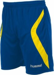 Blauwe Hummel Manchester Short - Voetbalbroek - Mannen - Maat XXL - Blauw kobalt