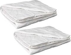 Witte Cotton Dream Zomerdekbed Katoen (B-keuze) - Voordeelset - Eenpersoons - 140x200 cm - 2 Stuks