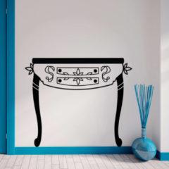 Walplus Home Decoratie Sticker - Zwarte Bijzettafel
