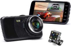 Zwarte Allcam Dashcam voor auto Y900 Dual 2CH - FullHD