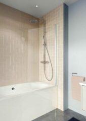 Crosswater Clear 6 badwand 80x150cm met 6mm veiligheidsglas zilver aluminium CABSSC0800