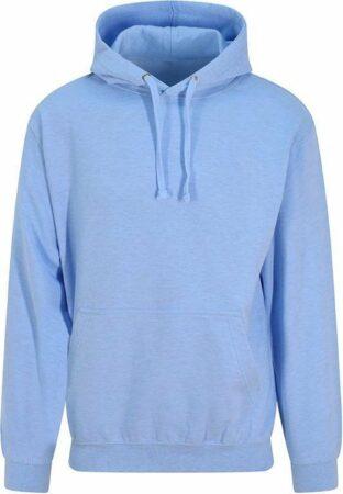 Afbeelding van Blauwe Russel Workwear Surf hoodie pastel, Kleur Surf Blue, Maat XL