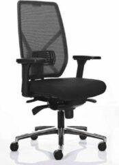 MR Actiflexx Bureaustoel Actiflexx Weave Arbo NPR 1813 | stof zwart - rug zwart | voetenkruis aluminium incl. multifunctionele wielen