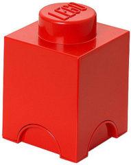 Rode LEGO Opbergbox Brick 1 - Polypropyleen - 12,5x12,5x18 cm