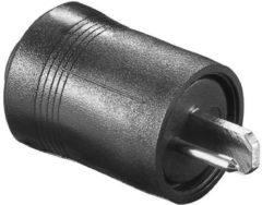 Zwarte 2-pins DIN luidspreker connector (m) / soldeerbaar