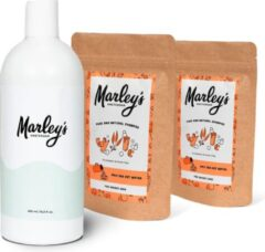 Marley's Amsterdam starterspakket XL   Duurzame en natuurlijke shampoo   Eucalyptus & Groene klei (x2) + Herbruikbare shampoo fles   Shampoo starterskit   Maak je eigen duurzame en natuurlijke shampoo   Cadeau   Geschenkset   Giftbox