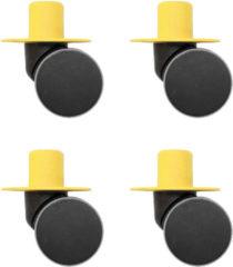 Gele Modu Zwenkwielen x4 - Yellow