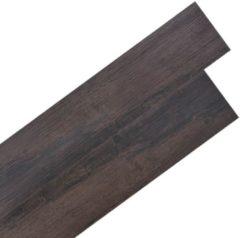 VidaXL Vloerplanken zelfklevend 5.02 m² PVC donkergrijs eiken
