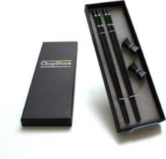 ChopStore - Bungo Dark groen chopsticks in luxe cadeauverpakking