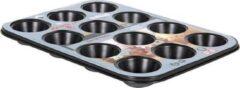 Quttin bakplaat muffins voor 12 porties zwart