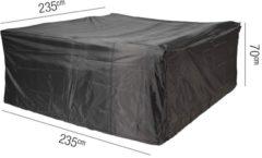AeroCover Loungesethoes | 235x235xh70 cm | Ademend | Weersbestendig | Waterproof | Beschermhoes Tuin | Waterdicht | Grijs / Antraciet