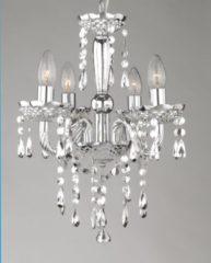 Globo Lighting Kroonluchter Globo Cuimbra LED - Compleet verchroomd - Acryldecoratie kristallen