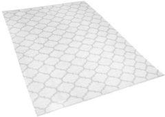 Beliani Tweezijdig tapijt in Marokkaanse Ooge-print grijs 140 x 200 cm AKSU