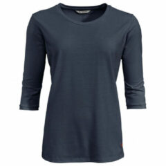 Vaude - Women's Skomer 3/4 T-Shirt - Sport-T-shirt maat 36, zwart/blauw