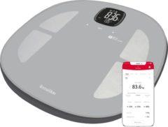 Zwarte Terraillon Master fit - WIFI SMART weegschaal met lichaamsanalyse