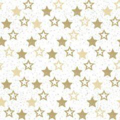 Ambiente 120x Servetten met gouden sterretjes 33 x 33 cm - Papieren tafeldecoraties - Papieren wegwerpservetten 3-laags