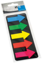 Info Page Markers arrow film 25x45mm, 5 kleuren