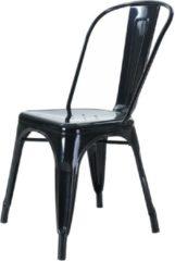 Legend Industriële café stoel - Metaal - Zwart