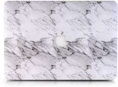 Witte CasualCases Hardcase marmer wit hoes voor de MacBook 12 inch + gratis EU keyboardbescherming